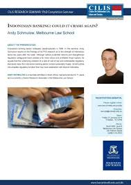 Andy Banister 2014 Past Events Melbourne Law