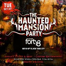 the haunted mansion nyc u0027s halloween parade after party stage48
