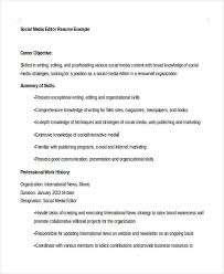 Social Media Resume Example by Social Media Resumes 10 Free Word Pdf Format Download Free
