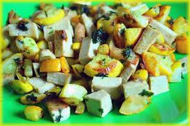 cuisiner tofu fumé recette de poêlée estivale aux courgettes jaunes tofu fumé et
