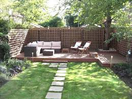 landscape a simple minimalist sloping backyard easy pertaining to