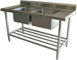 Commercial Kitchen For Sale by Ss201 Ss304 Silver Two Bowl Commercial Stainless Steel Sinks For