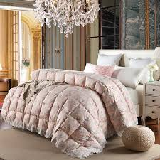 Down Comforter King Oversized Aliexpress Buy 3d Design White Pink Color Natural 90 Duck Colored