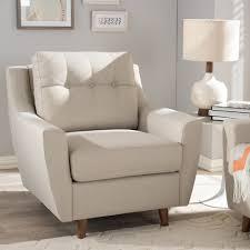 livingroom chair baxton studio mid century modern light beige fabric