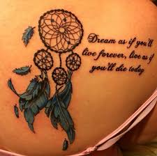 11 dreamcatcher tattoos with quotes