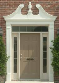 Exterior Door Pediment And Pilasters Pilasters And Door Pediments And Crossheads By Fypon Decor