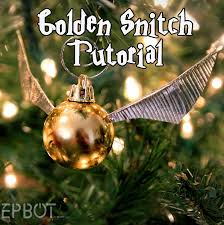 diy snitch perfect for a harry potter tree and easy too