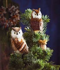 owl christmas barn owl christmas tree toppers barn owl tree toppers set of 2