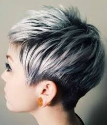 pics of lo lites in short white hair silver pixie cut with layered lowlights pinteres