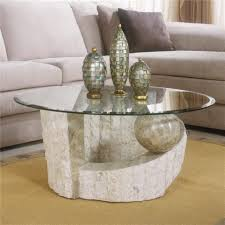 coffee table alluring table round glass coffee with wood base
