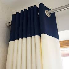 Two Tone Drapes Two Tone Color Block Curtains I Free Shipping I Spiffy Spools