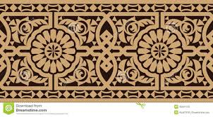 traditional design taza seamless border two stock photo image 35291120
