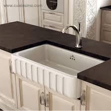 evier retro cuisine évier à poser en céramique chambord de la gamme 1 bac blanc