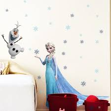 Wall Stickers For Girls Room Queen Elsa Olaf Disney Frozen Wall Sticker For Children Room