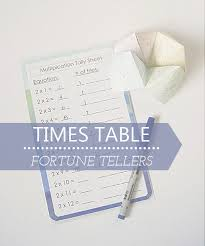 times table fortune tellers with printable tally sheets