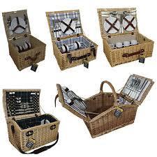 Picnic Basket Set For 2 Picnic Hamper Set Ebay