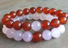 rose quartz bead bracelet images 10mm rose quartz beads bracelet 10mm red agate beads elastic jpg