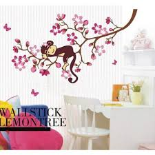monkey sleeping on the branch wall decal wall art decals vinyl