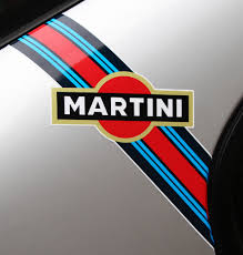 porsche racing logo martini style u0027flashes u0027 logo stripes x2 ideal for scooters