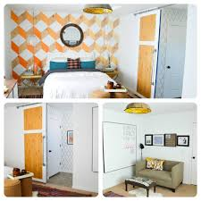 orange and white hues for diy bedroom decorating ideas for women