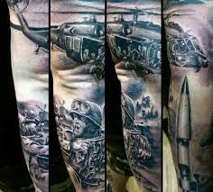 incredible very realistic looking modern military tattoo on sleeve
