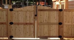 Fence Double Gate Design Building Large Cedar Structural Pinterest - Backyard gate designs