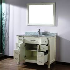 custom white 42 inch bathroom vanity for fresh home design ideas