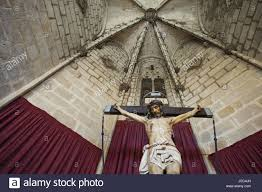 spain barcelona cathedral cloister jesus christ on the cross