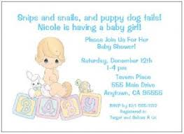 personalized precious moments baby boy shower invitations