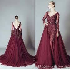 beautiful detachable prom dresses 2016 appliques low v back