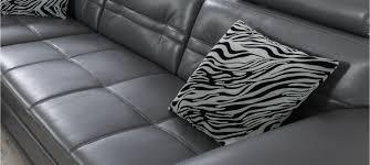 canapé d angle cuir gris anthracite canapé d angle à prix discount