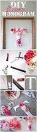 Bedroom Room Decor Ideas Diy by Diy Faux Flower Monogram