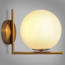 Bathroom Light Globes by Cattel Simple White Globe Glass Shade Single Light Indoor Wall