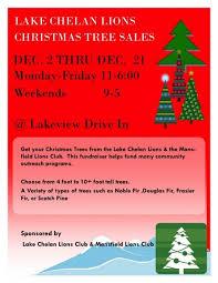 fresh cut christmas tree sale kicks off with the lake chelan lions