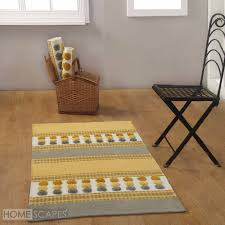 Cotton Chenille Rug Cotton Chenille Striped Tufted Circle Rug Grey Mustard Yellow