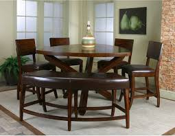 counter height dining table with bench 6 piece counter height dining set with bench gallery dining