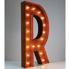 36 u201d letter r lighted vintage marquee letters rustic buy