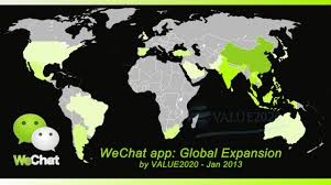 World Map App by First World Map Of Wechat User Base Value2020 Internet Market