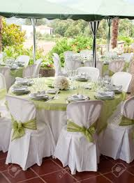 Wedding Table Setting Gorgeous Wedding Chair And Table Setting For Fine Dining At