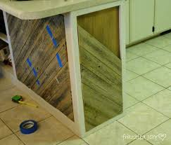 Adding A Kitchen Island remodelaholic diagonal planked reclaimed wood kitchen island