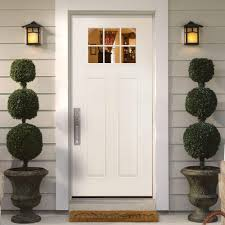 Home Depot Doors Interior Pre Hung by Masonite Craftsman 6 Lite Primed Smooth Fiberglass Entry Door With