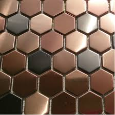 hexagon mosaic mosaic wall tiles backsplash smmt055 stainless