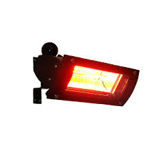 electric outdoor patio heater 1500 watt infrared wall mounted patio heater black glass front