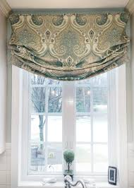 Custom Window Treatments by Faux Roman Shade Valance Custom Window Treatment Relaxed