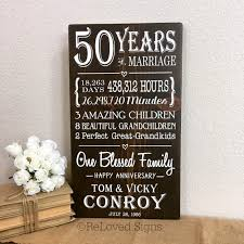 50 year anniversary gift 50th wedding anniversary gift 50 year anniversary gifts for
