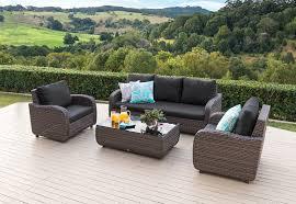 Outdoor Furniture Joondalup - mediterranean 4 piece outdoor lounge setting amart furniture
