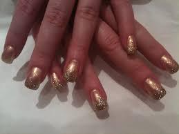 red gold nails art www sbbb info