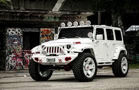 starwood motors jeep white customized jeep wrangler exclusive motoring miami fl