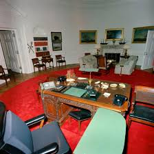 oval office redecoration st c416 3 63 redecorated oval office with president john f
