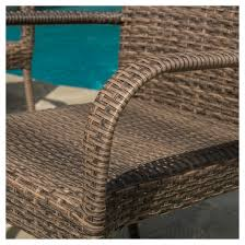 Patio Stacking Chairs Littleton 3pc All Weather Wicker Patio Stacking Chair Chat Set